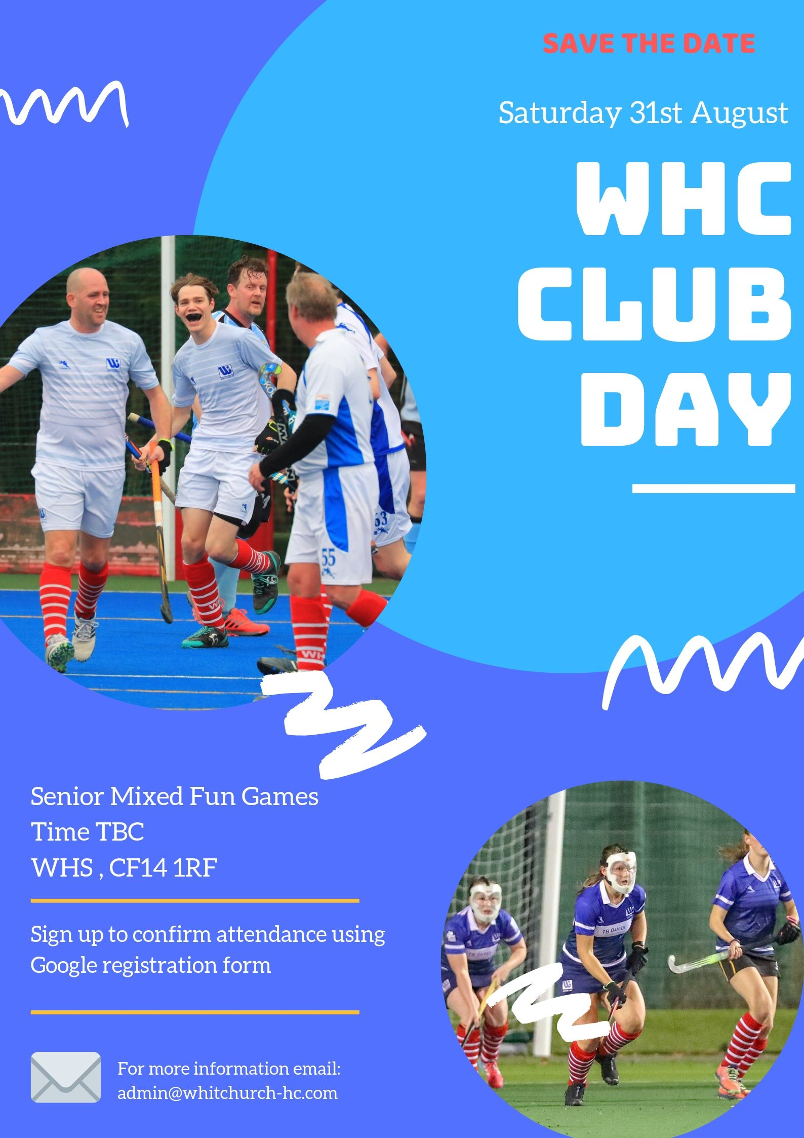 Save the Date   WHC Club Day 2019